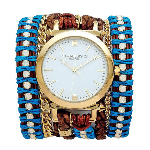 GREY MAASAI WRAP WATCH