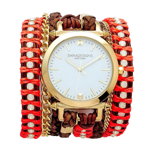 CAMEL MACRAME WRAP WATCH