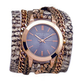 Gemma Urban Round Wrap Watch Rose Gold Sara Designs