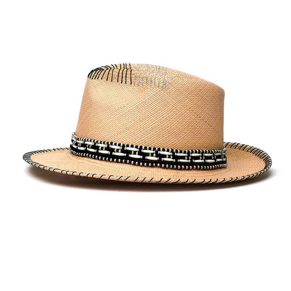 Hermosa Natural Fedora Hat Genuine Panama Hat