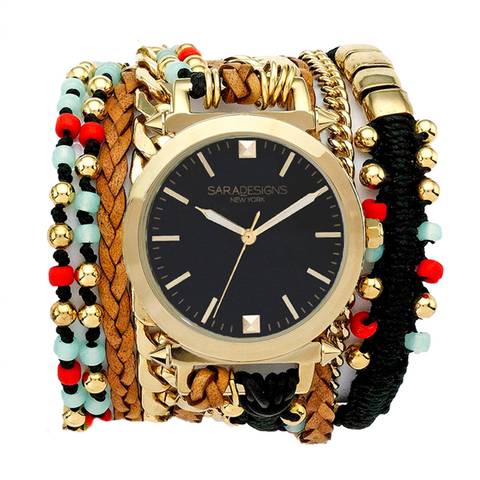 STAR URBAN SPIKE WRAP WATCH - SILVER