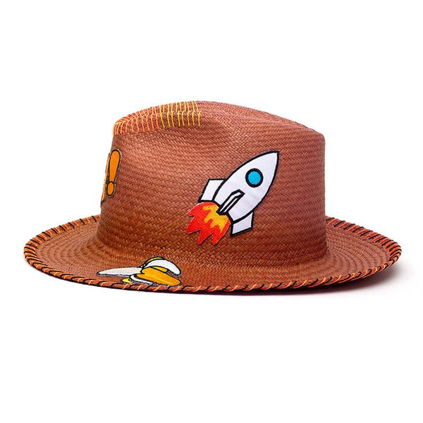 Hey! Patch Sahara Fedora Hat Handmade Hat