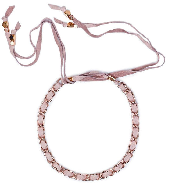 Lidia Choker Blush Rose Gold Sara Designs
