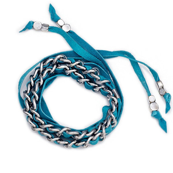 Lidia Choker Turquoise Silver Collection Sara Designs