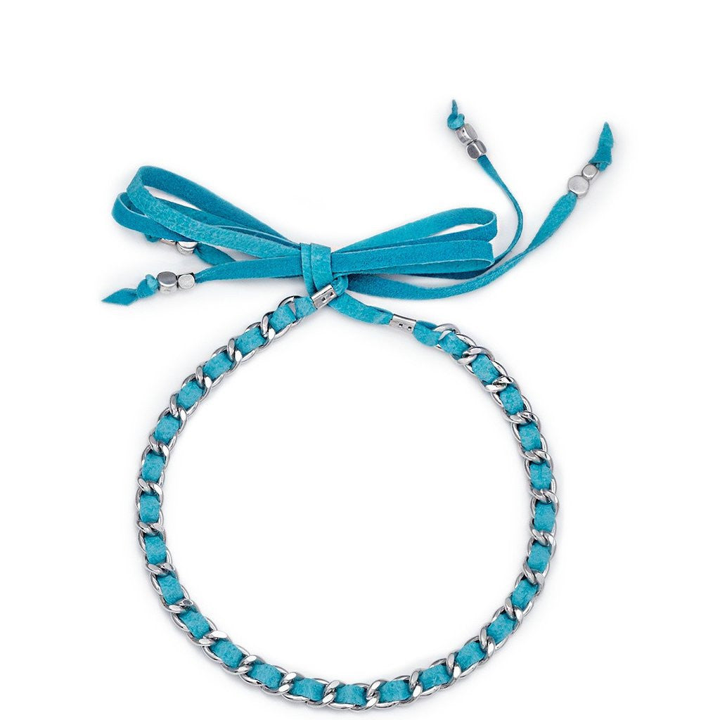 Lidia Choker Turquoise Silver Sara Designs