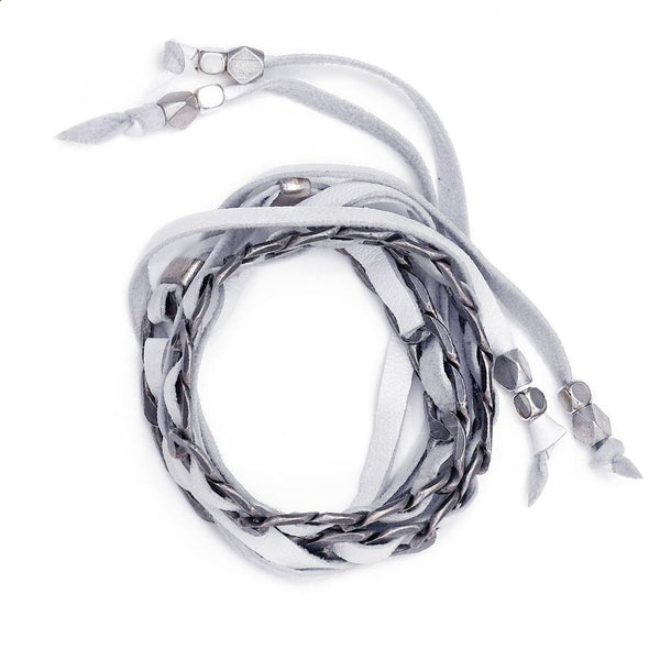 Lidia Choker White Silver Collection Sara Designs
