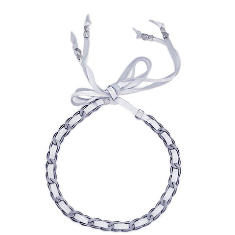 MILI LEATHER WRAP CHOKER - TORQOUISE