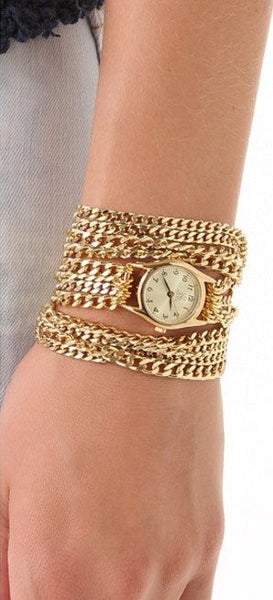 Lil All Chain Wrap Watch Gold Chain Sara Designs