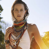 Long Maasai Necklace Multi-Color Sara Designs