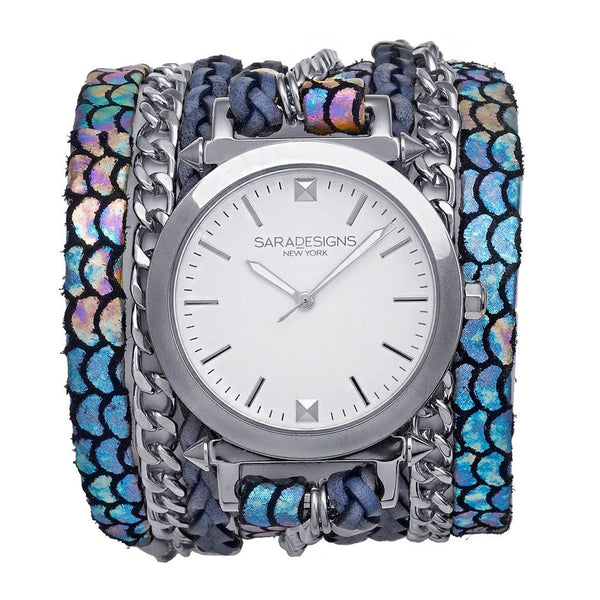 Lucid Urban Spike Wrap Watch Silver Sara Designs