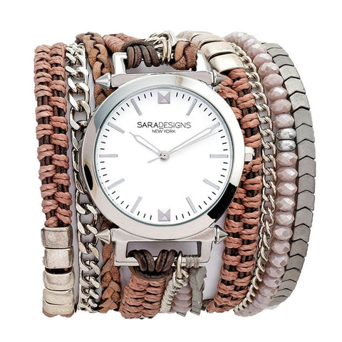 NOGA BEADED WRAP WATCH