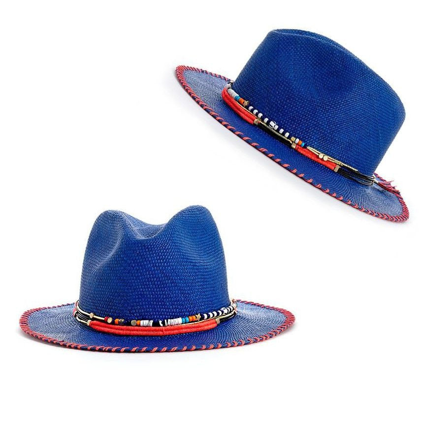 Marine Blue Fedora Hat Collection