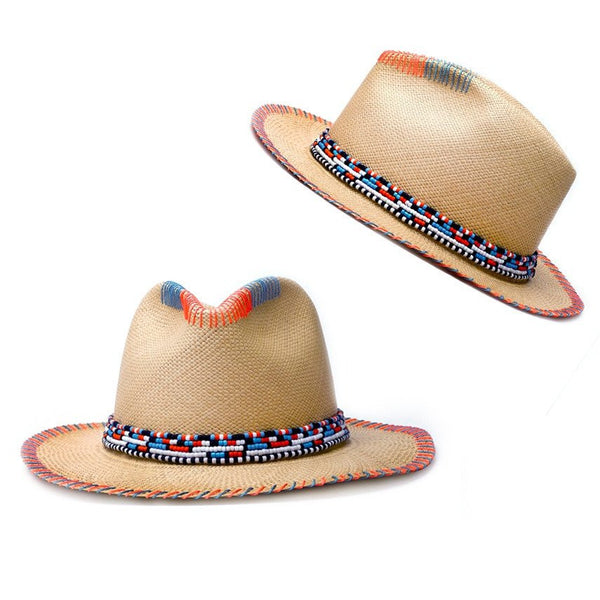 Massai Natural Fedora Panama Hat Panama Hat Collection
