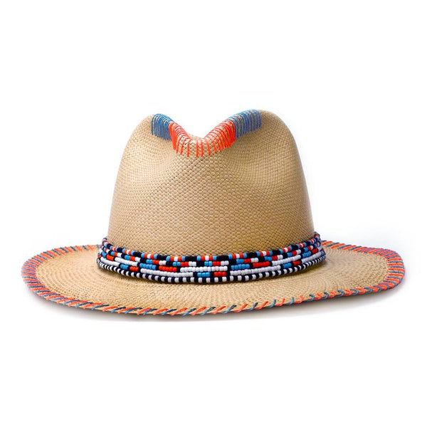 Massai Natural Fedora Panama Hat