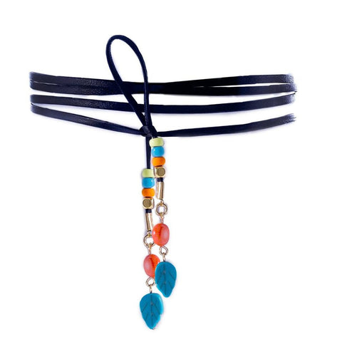 RIDER BANDANA CHOKER- LIGHT BLUE