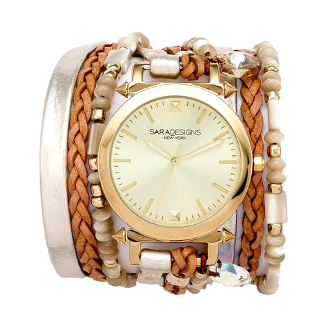 GOLDFLAKE URBAN ROUND WRAP WATCH