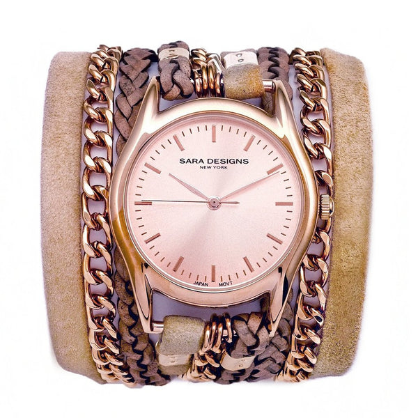 Nude Urban Classic Wrap Watch - Rose Gold Sara Designs