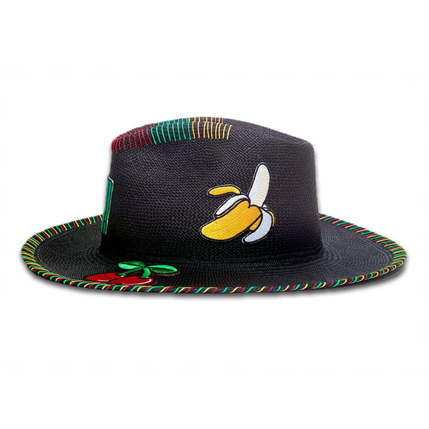 Oh! Patch Black Monticristi Hat Panama Hat Collection