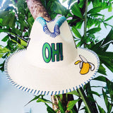 Oh! Patch White Fedora Hat Collection