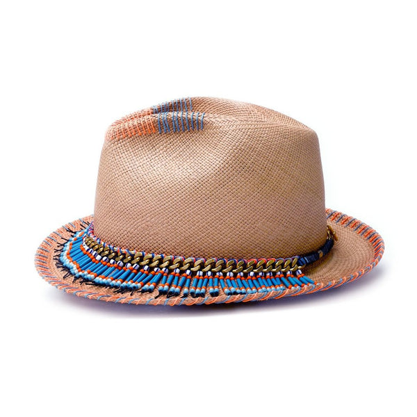 Olli Natural Diamond Panama Hat Handmade