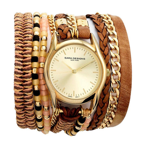POWDER PINK ROSE GOLD MACRAME WRAP WATCH