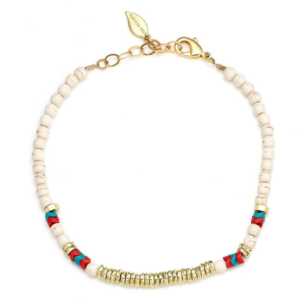 Riah Beaded Chocker White Sara Designs