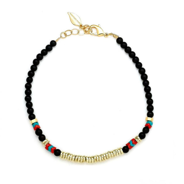 Riah Beaded Choker Black Sara Designs