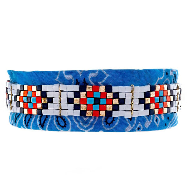 Rider Bandana Choker Light Blue Sara Designs