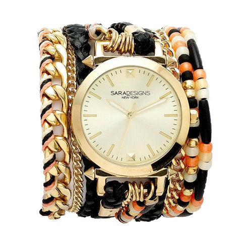 LIL' CRYSTAL WRAP WATCH