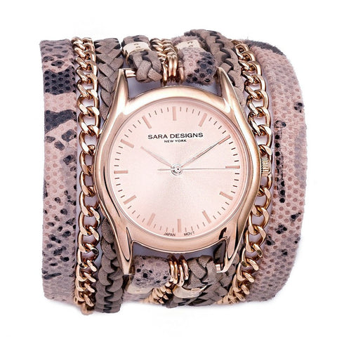 SKI URBAN CLASSIC WRAP WATCH - ROSE GOLD