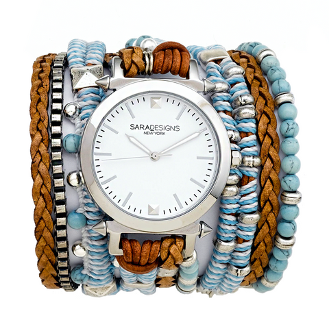 NINA BEADED TRIPLE BRACELET- CREAM