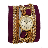 WINE SUEDE URBAN LITTLE WRAP WATCH