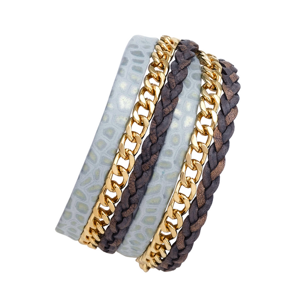 CIEL DOUBLE WRAP LEATHER BRACELET