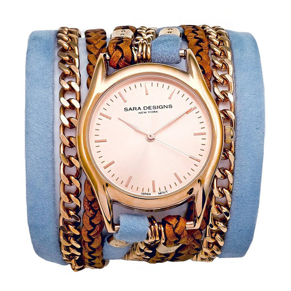 Ski Urban Classic Wrap Watch Rose Gold Sara Designs