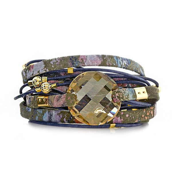 Splash Swarovski Crystal Wrap Bracelet Sara Designs