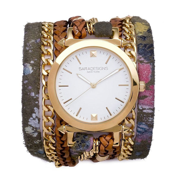 Splash Urban Spike Wrap Watch Sara Designs