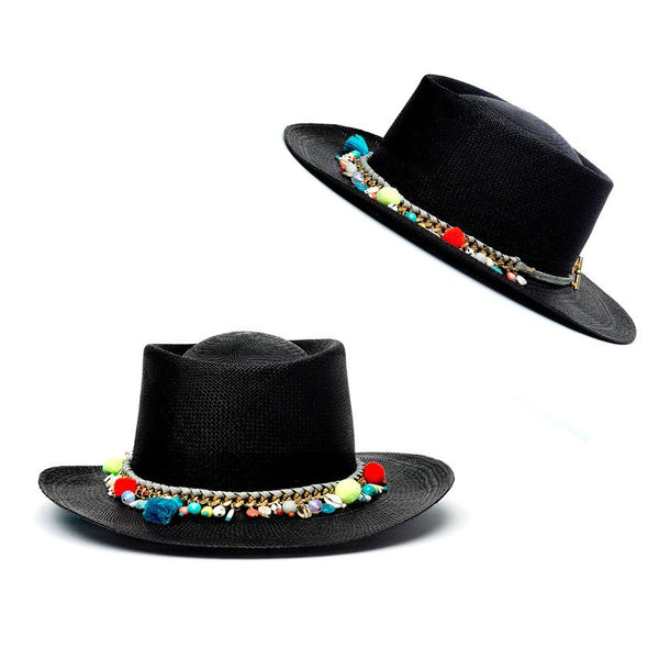 St Tropez Black Matador Hat Panama Hat Collection