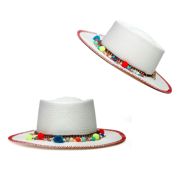 St. Tropez White Matador Hat Panama Hat Collection