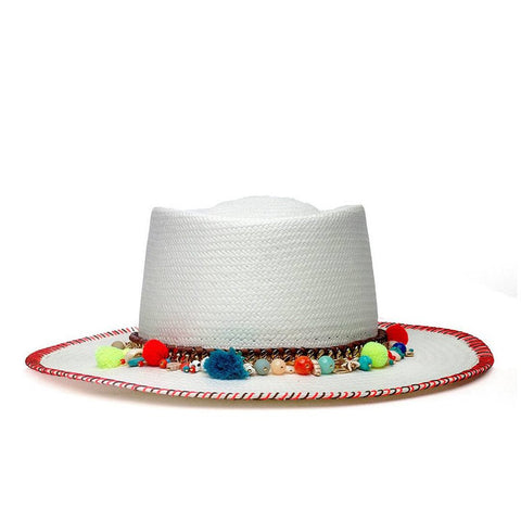 MALIA WHITE DIAMOND HAT