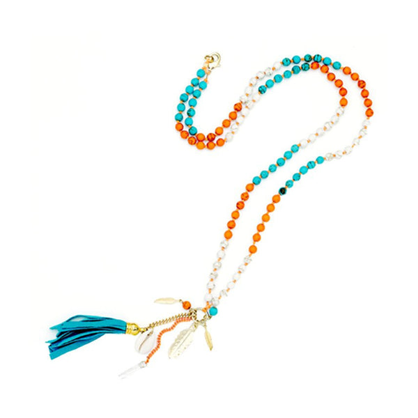 Trio Tassel Necklace Sara Designs