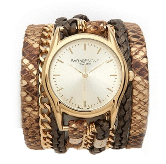 Urban Classic Cream Wrap Watch Sara Designs