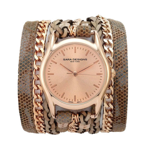ZOE TAUPE WRAP WATCH