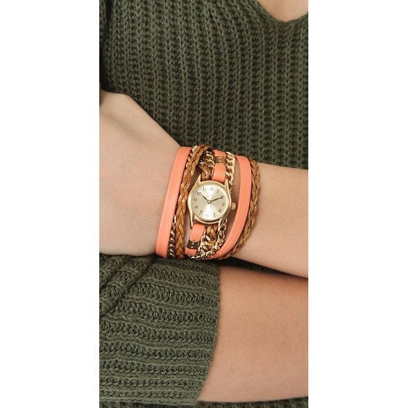 Urban Little Coral Wrap Watch Leather Sara Designs