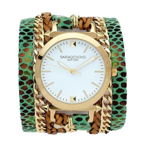 ZOE TEAL WRAP WATCH
