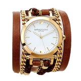 Urban Spike Antique Brown Wrap Watch Sara Designs