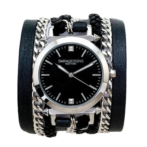 LUCID URBAN SPIKE WRAP WATCH - SILVER