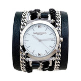 Urban Spike Black Wrap Watch Dial Color White Sara Designs