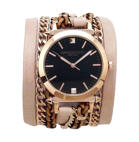 Urban Spike Blush Wrap Watch Sara Designs