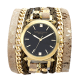 Urban Spike Champagne Wrap Watch Sara Designs