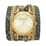 Urban Spike Smoke Grey Wrap Watch Yellow Sara Designs